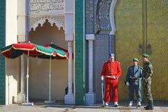 Royal guard in Rabat Stock Image