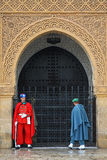 Royal guard in front of the mausoleum in Rabat. Royalty Free Stock Image