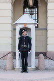 Royal Guard in front of the Royal Palace stand at attention Stock Photography