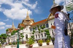 Royal guard at The Grand Palace Royalty Free Stock Images