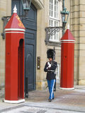 Royal Guard guarding Amalienborg Castle in Copenhagen, Denmark Royalty Free Stock Image