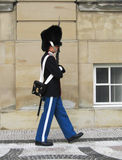 Royal Guard guarding Amalienborg Castle in Copenhagen, Denmark Stock Image