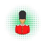 A Royal Guard icon, comics style Stock Image