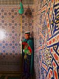 Royal guard inside of the Mausoleum of Mohammed V in Rabat Royalty Free Stock Photo