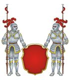 Royal guard knights  Stock Images