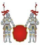 Royal guard knights royalty free illustration