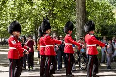Royal Guard marching stock photos