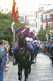 Royal guard parade in Córdoba to mark the horse fair Stock Photo