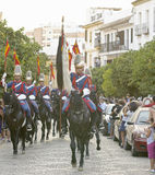 Royal guard parade in Córdoba to mark the horse fair Stock Image