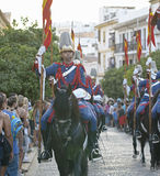 Royal guard parade in Córdoba to mark the horse fair Royalty Free Stock Photography