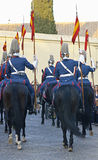 Royal guard parade in Córdoba to mark the horse fair Stock Photos