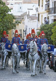 Royal guard parade in Córdoba to mark the horse fair Royalty Free Stock Image