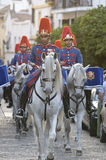 Royal guard parade in Córdoba to mark the horse fair Royalty Free Stock Photos