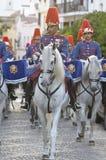 Royal guard parade in Córdoba to mark the horse fair Royalty Free Stock Images