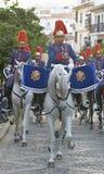 Royal guard parade in Córdoba to mark the horse fair Stock Photo
