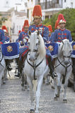Royal guard parade in Córdoba to mark the horse fair Royalty Free Stock Images