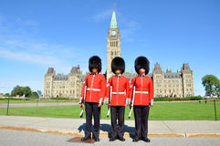Royal Guard on Parliament Hill, Ottawa Royalty Free Stock Images
