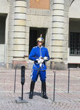 Royal Guard protecting Royal Palace in Stockholm Stock Images