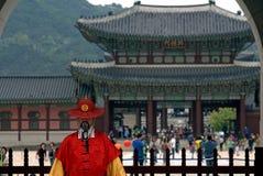Royal guard, Seoul, Korean Republic Royalty Free Stock Photography
