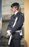 Royal Guard in Stockholm Stock Photo