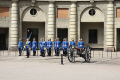 Royal Guard in Stockholm Stock Photos