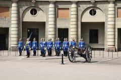 Royal Guard in Stockholm Stock Photos