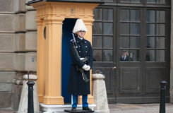 Royal Guard, Stockholm, Royal Palace, Sweden Royalty Free Stock Photos