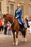 Royal guard. Stockholm, Sweden. Royalty Free Stock Photos