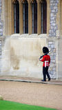 Royal Guard in Windsor Castle Royalty Free Stock Photo