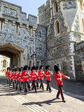 Royal Guard in Windsor palace, London, UK Stock Images