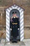 Royal guardian in Prague Stock Photography