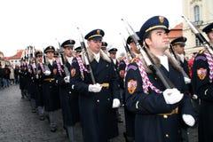 Royal guardians in Prague Royalty Free Stock Photo