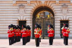 The royal guards of the Buckingham palace Stock Images