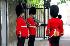 Royal guards at Buckingham Palace Stock Images