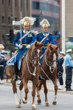 Royal guards before the carriage of the royal wedding Royalty Free Stock Image