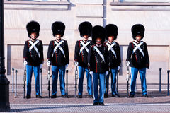 Royal Guards during the ceremony of changing the guards on the s Royalty Free Stock Photo