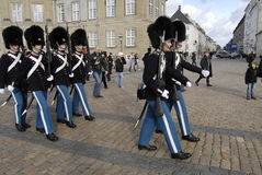 Royal guards change Royalty Free Stock Photos