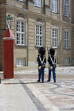 Royal guards, Copenhagen. Guard outside the royal palace in Copenhagen Stock Photography