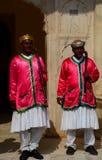 Royal guards at the entrance. City Palace. Jaipur. Rajasthan. India Stock Photography