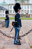 Royal guards in the Fredensborg palace Royalty Free Stock Image