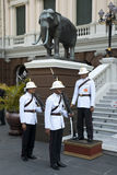 Royal Guards  at Grand Palace Royalty Free Stock Image