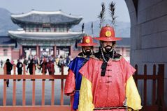 Korean Royal Gaurds stock image