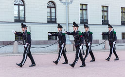 Royal Guards marching Stock Photos