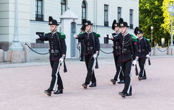 Royal Guards marching Stock Images