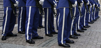 Royal guards, Old Stockholm (Gamla Stan), Sweden Stock Image
