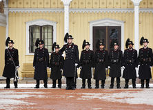 Royal Guards in Oslo, Norway Stock Image