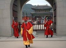 Royal guards, Seoul, Korean Republic Stock Photos