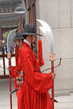 Royal guards, Seoul, Korean Republic Royalty Free Stock Photography