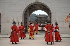 Royal guards, Seoul, Korean Republic Stock Image