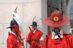 Royal guards, Seoul, Korean Republic Royalty Free Stock Image
